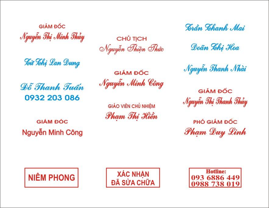 Dịch vụ khắc dấu tên tại Nghệ An
